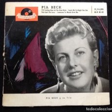 Discos de vinilo: PÍA BECK, I'M FEELING BLUE AT THE BLUE NOTE, THIS CAN'T BE LOVE + 2. Lote 148235562