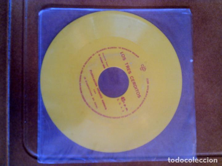 DISCO EN COLOR DE LOS TRES CERDITOS PUBLICACION INFANTIL SONORA (Música - Discos de Vinilo - Maxi Singles - Música Infantil)
