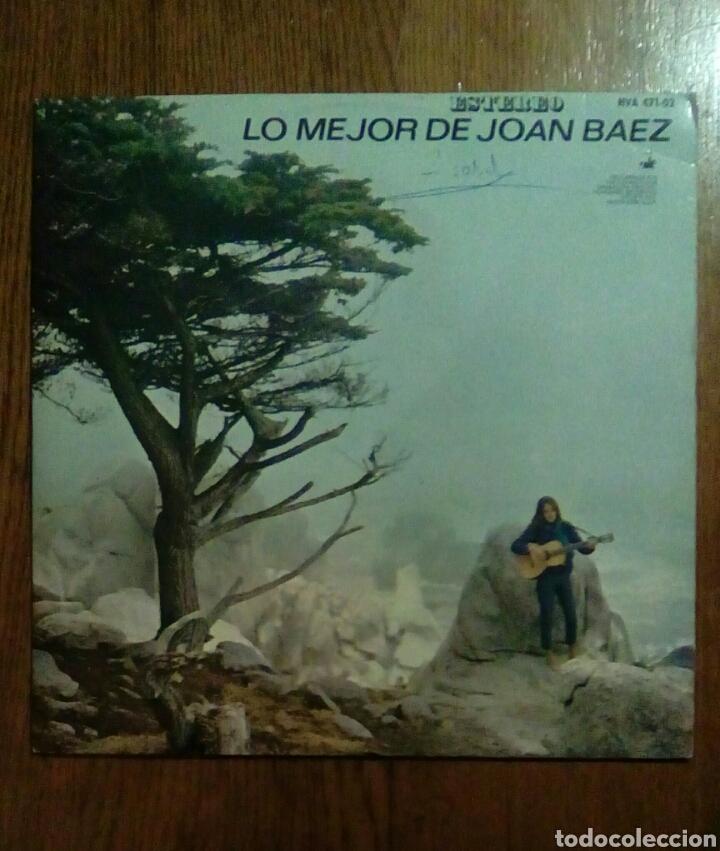 JOAN BAEZ - LO MEJOR DE..., HISPAVOX, 1965. SPAIN. (Música - Discos - LP Vinilo - Cantautores Extranjeros)