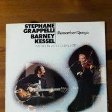 Discos de vinilo: STEPHANE GRAPPELLI Y BARNEY KESSEL I REMEMBER DJANGO. Lote 148247516