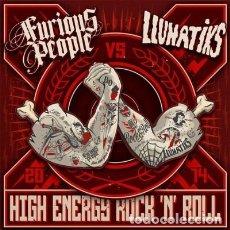 Discos de vinilo: FURIOUS PEOPLE / LLUNATIKS HIGH ENERGY ROCK 'N' ROLL LP PUNK ROCK. Lote 148287238
