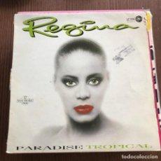 Discos de vinilo: REGINA - PARADISE TROPICAL - 12'' MAXISINGLE LEIBER 1988. Lote 148295442