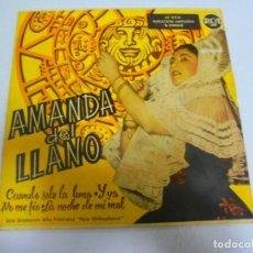 Disques de vinyle: SINGLE. AMANDA DEL LLANO. CUANDO SALE LA LUNA. RCA. Lote 148297318