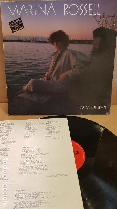 MARINA ROSSELL / BARCA DEL TEMPS / LP - CBS - 1985 / MBC. ***/*** (Música - Discos - LP Vinilo - Cantautores Españoles)