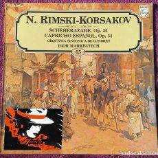 Discos de vinilo: VINILO LP LOS GRANDES COMPOSITORES VOL.65 - N. RIMSKI-KORSAKOV / LP PHILIPS - 1982. Lote 148312978