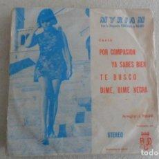 Discos de vinilo: MYRIAM - POR COMPASION + 3 EP 1971. Lote 148313438