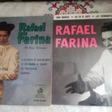 Discos de vinilo: 2 ANTIGUOS VINILOS DE RAFAEL FARINA. Lote 148317549