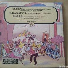 Discos de vinilo: LP CLÁSICA ALBENIZ/GRANADOS/FALLA/MUSICA CLASICA. Lote 148325809