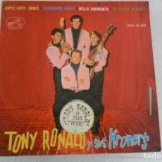 Discos de vinilo: TONY RONALD Y SUS KRONER'S - HIPPY HIPPY SHAKE + 3 EP 1964. Lote 148334922