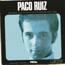 Discos de vinilo: PACO RUIZ CON LOS LENTOS / EL JUEGO + 3 (EP 1963). Lote 148338838