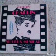 Discos de vinilo: DISCO DE CHARLES CHAPLIN CONTIENE 4 TEMAS. Lote 148339830