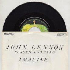 Discos de vinilo: JOHN LENNON IMAGINE SINGLE 45 1975 GERMAN REISSUE BEATLES YOKO ONO APPLE GERMANY. Lote 148341846