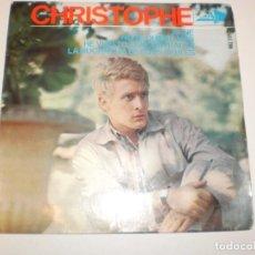 Discos de vinilo: SINGLE CHRISTOPHE. ALINE. HE VUELTO A ENCONTRARTE. NO TE QUIERO MÁS. LA MUCHACHA DE OJOS AZULES 1965. Lote 148344734