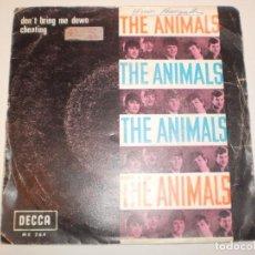 Discos de vinilo: SINGLE THE ANIMALS. DON'T BRING ME DOWN. CHEATING. DECCA 1968 SPAIN (DISCO PROBADO Y BIEN). Lote 148347546