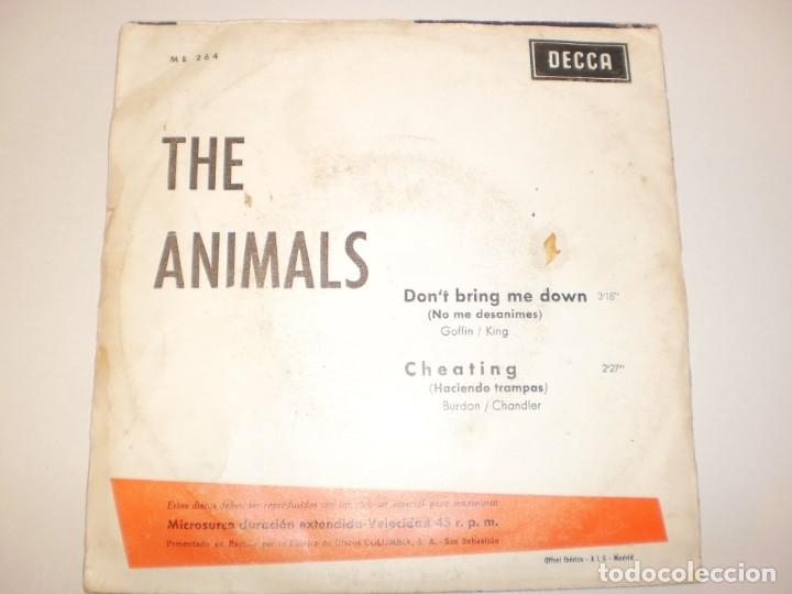 Discos de vinilo: single the animals. don't bring me down. cheating. decca 1968 spain (disco probado y bien) - Foto 2 - 148347546