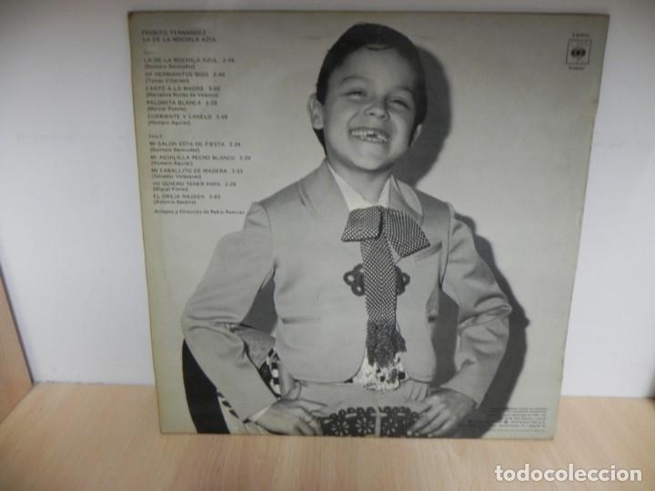 Discos de vinilo: PEDRITO FERNANDEZ,LA DE LA MOCHILA AZUL - Foto 2 - 148348970