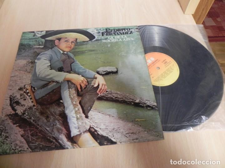 Discos de vinilo: PEDRITO FERNANDEZ,LA DE LA MOCHILA AZUL - Foto 3 - 148348970