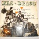 Discos de vinilo: SINGLE ELS DRACS. COMPRENSIÓ. LA NIT. EL JOC DE L'AMOR. UN COR FET D'AMOR. CON ENCARTE Y LETRAS 1965. Lote 148349114