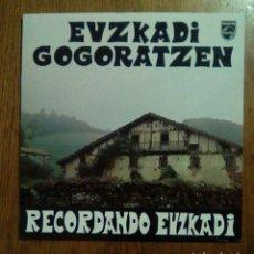 Discos de vinilo: EUZKADI GOGORATZEN / RECORDANDO EUZKADI - PHILIPS, 1979. SPAIN.. Lote 148349605