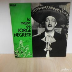 Discos de vinilo: LP. LO MEJOR DE JORGE NEGRETE . Lote 148351278