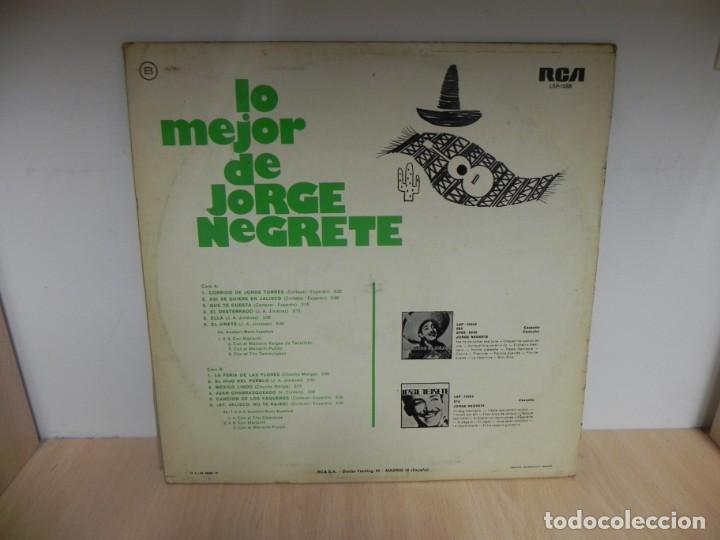 Discos de vinilo: LP. LO MEJOR DE JORGE NEGRETE - Foto 2 - 148351278