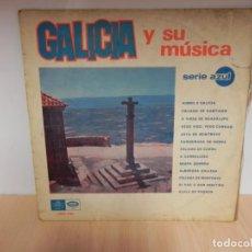 Discos de vinilo: GALICIA Y SU MUSICA. HIMNO A GALICIA, ALBORADA GALLEGA, JOTA DE MONTROVE,... . Lote 148354970
