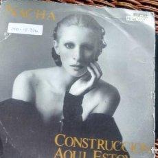 Discos de vinilo: SINGLE (VINILO) DE NACHA GUEVARA AÑOS 80. Lote 148359298