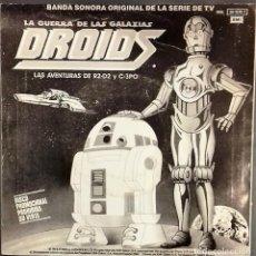 Discos de vinilo: BANDA SONORA ORIGINAL DE LA SERIE DE TV EWOKS Y DROIDS- SG. PROMO- ED. ESPAÑOLA- 1986. Lote 148359970