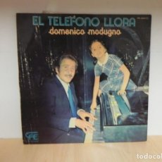 Discos de vinilo: LP DOMENICO MODUGNO : EL TELEFONO LLORA . Lote 148370130