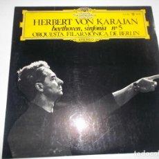 Discos de vinilo: HERBERT VON KARAJAN BEETHOVEN SINFONIA N 5. Lote 148371230