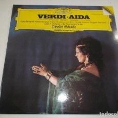Discos de vinilo: VERDI- AIDA - CLAUDIO ABBADO - DEUTSCHE GRAMMOPHON - SPAIN - 1985. Lote 148378322