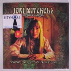 Discos de vinilo: JONI MITCHELL *LP 180G *NEWPORT FOLK FESTIVAL 19 JULIO 1969 *LTD ULTRARARE *PRECINTADO *CON INSERTO. Lote 159817134