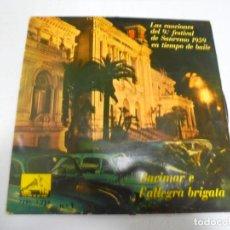 Disques de vinyle: SINGLE. BARIMAR E E L'ALLEGRA BRIGATA. Nº 1. CANCIONES DEL 9º FESTIVAL DE SANREMO 1959. Lote 148396510