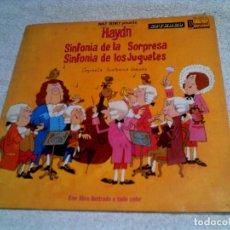 Discos de vinilo: DISCO DE WALT DISNEY ,SINFONIA DE LOS JUGETES ,SINFONIA DE LA SORPRESA 1968. Lote 148397626