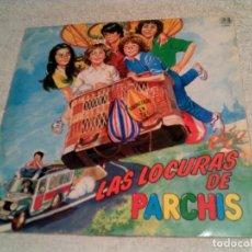 Discos de vinilo: LP LAS LOCURAS DE PARCHIS AÑO 1982 EDICION TROQUELADA Y DISCO EN COLOR. Lote 221803491