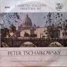 Discos de vinilo: PETER TCHAIKOWSKY, ORQUESTA FILARMÓNICA DE HAMBURGO, THOMAS SCHERMAN-CAPRICHO ITALIANO OBERTURA. Lote 148419982