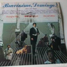 Discos de vinilo: PLACIDO DOMINGO , BRAVISSIMO DOMINGO AÑO 1982 – DOBLE DISCO CON PORTADA ABIERTA. Lote 148441630