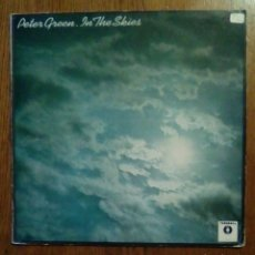 Discos de vinilo: PETER GREEN - IN THE SKIES, VICTORIA, 1984. SPAIN.. Lote 165997077