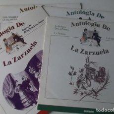 Discos de vinilo: 4 DISCOS ANTOLOGIA DE LA ZARZUELA DISCOS 2,3,4,5, 1986. Lote 148453550
