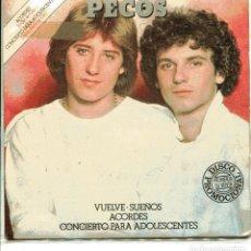 Discos de vinilo: PECOS / VUELVE - SUEÑOS + 2 (EP PROMO 1979). Lote 148469270