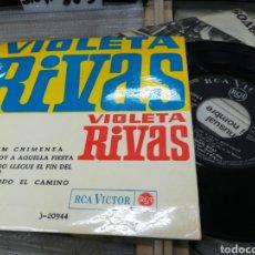 Discos de vinilo: VIOLETA RIVAS EP CHIM CHIMENEA + 3 ESPAÑA 1965. Lote 148475324