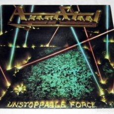 Discos de vinilo: LP AGENT STEEL - UNSTOPPABLE FORCE. Lote 213686923