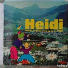 Discos de vinilo: *** HEIDI - BANDA ORIGINAL DE LA SERIE DE RTVE - LP 1975 - LEER DESCRIPCIÓN. Lote 148542706