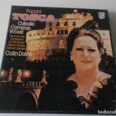 Discos de vinilo: PUCCINI TOSCA CABALLE CARRERAS,COLIN ESTUCHE 2 LPS 1977 PHILIPS ED ESPAÑOLA. Lote 148545534