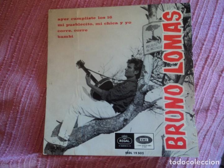 BRUNO LOMAS: SOLO PORTADA- REGAL 1966-POCO DETALLE -MUY NUEVA-OPORTUNIDAD (Música - Discos - Singles Vinilo - Solistas Españoles de los 50 y 60)