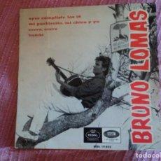 Discos de vinilo: BRUNO LOMAS: SOLO PORTADA- REGAL 1966-POCO DETALLE -MUY NUEVA-OPORTUNIDAD. Lote 148549002