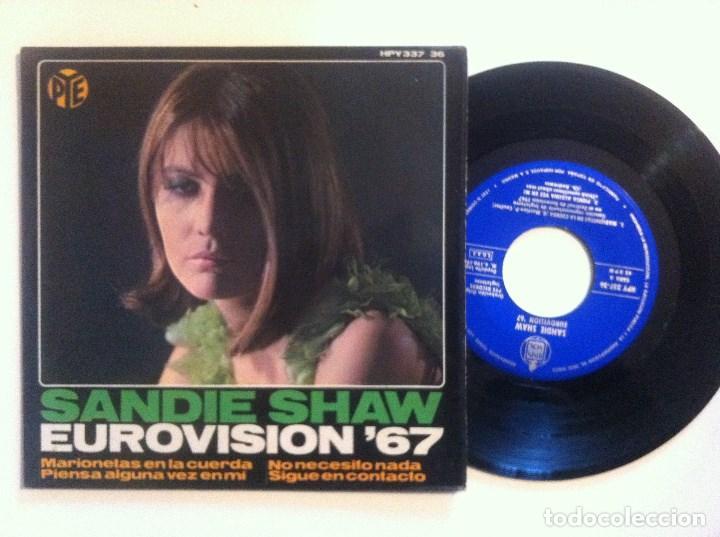 SANDIE SHAW - MARIONETAS EN LA CUERDA - EP 1967 - HISPAVOX - EUROVISION (Música - Discos de Vinilo - EPs - Festival de Eurovisión)