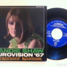 Discos de vinilo: SANDIE SHAW - MARIONETAS EN LA CUERDA - EP 1967 - HISPAVOX - EUROVISION. Lote 148573218