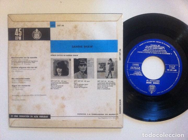 Discos de vinilo: SANDIE SHAW - marionetas en la cuerda - EP 1967 - HISPAVOX - EUROVISION - Foto 2 - 148573218