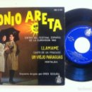 Discos de vinilo: TONIO ARETA - LLAMAME - EP 1962 - HISPAVOX - EUROVISION. Lote 148574986
